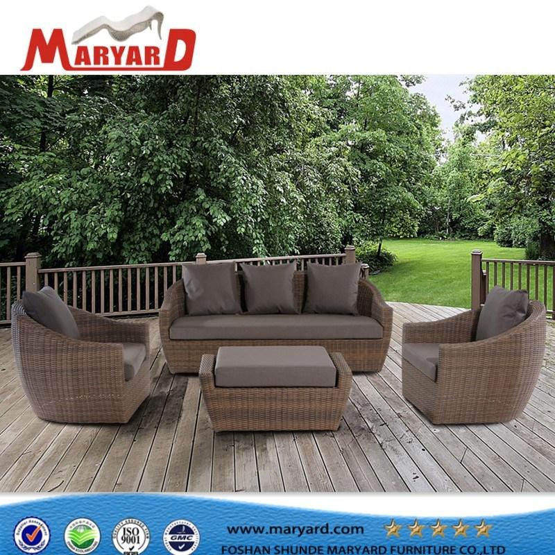 [Hot Item] Outdoor Garden Wicker Rattan Sofa Synthetic Rattan Wicker  Furniture