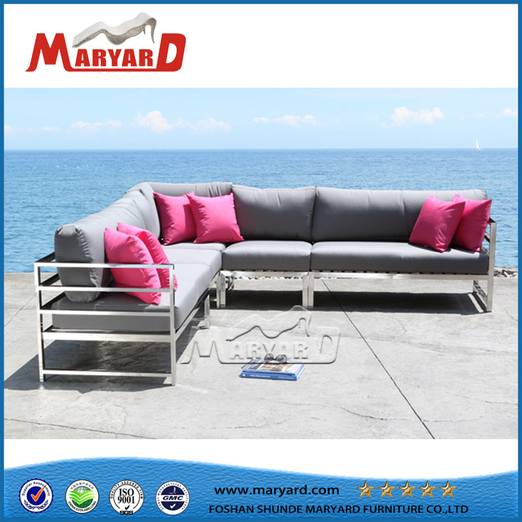 [Hot Item] Outdoor Sectional Sofa Set Lounge Chair with Footrest