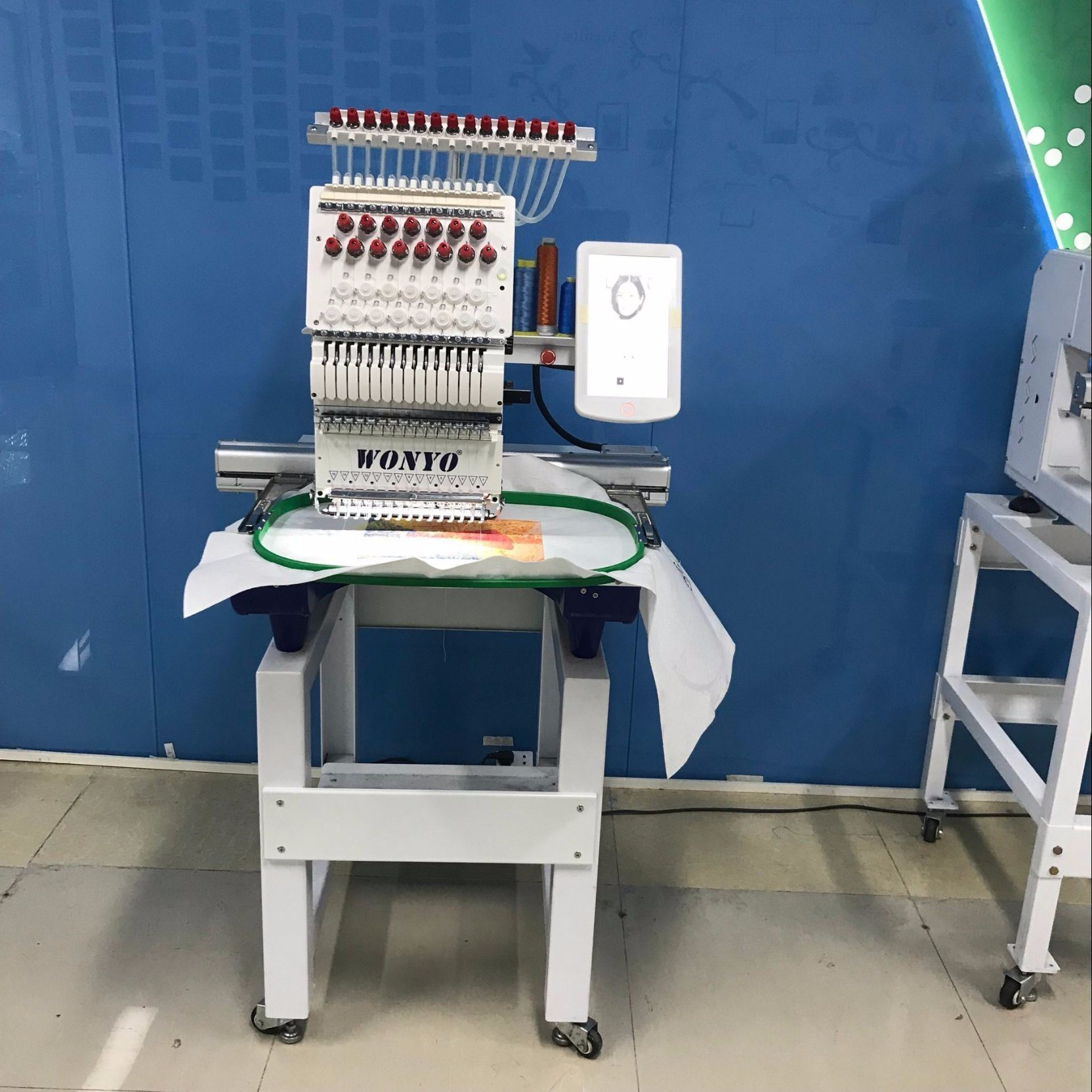 Used Embroidery Machines For Sale >> Hot Item Wonyo Computerized One Head Used Barudan Embroidery Machine For Sale