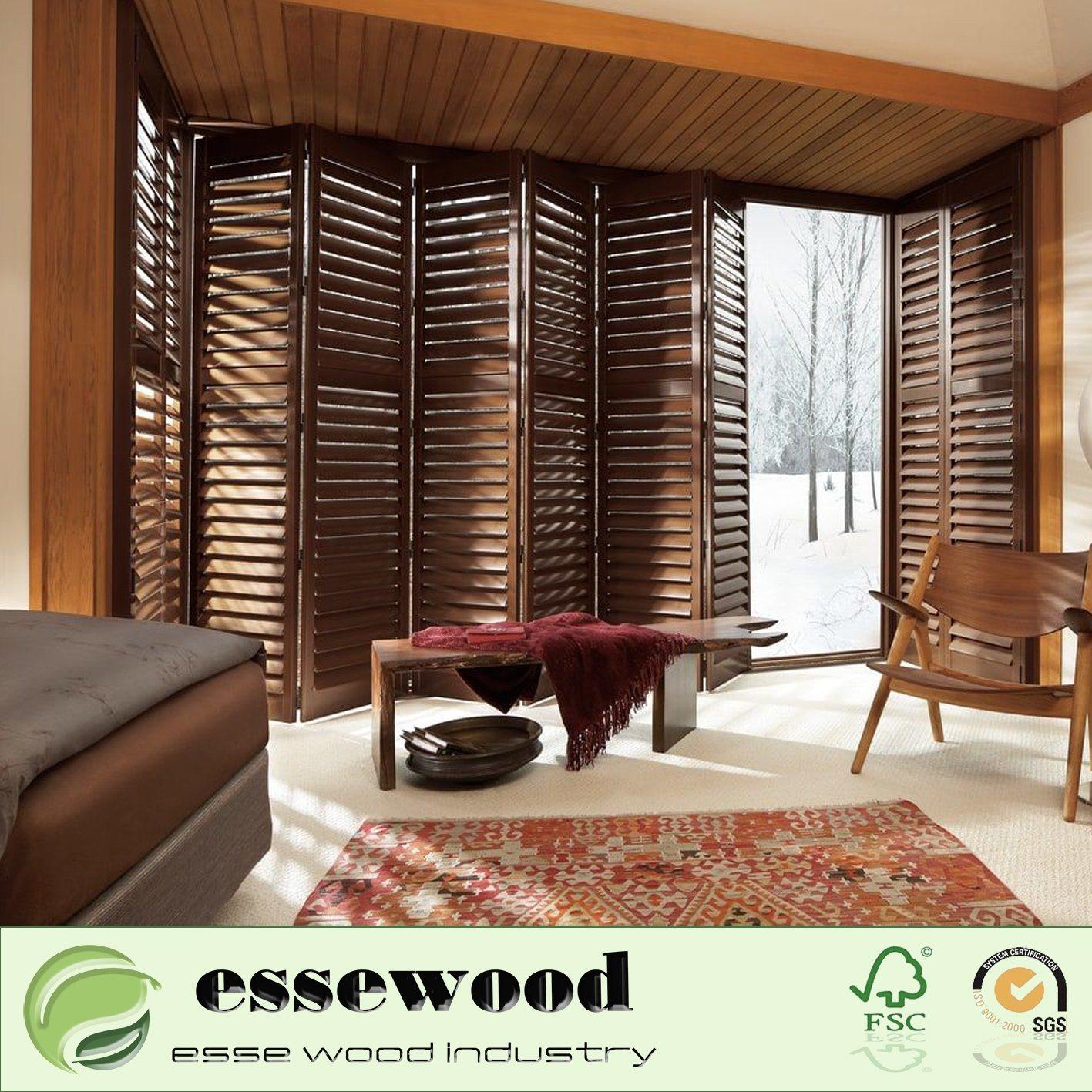China Wooden Window Blinds Indoor Window Shutters Bamboo