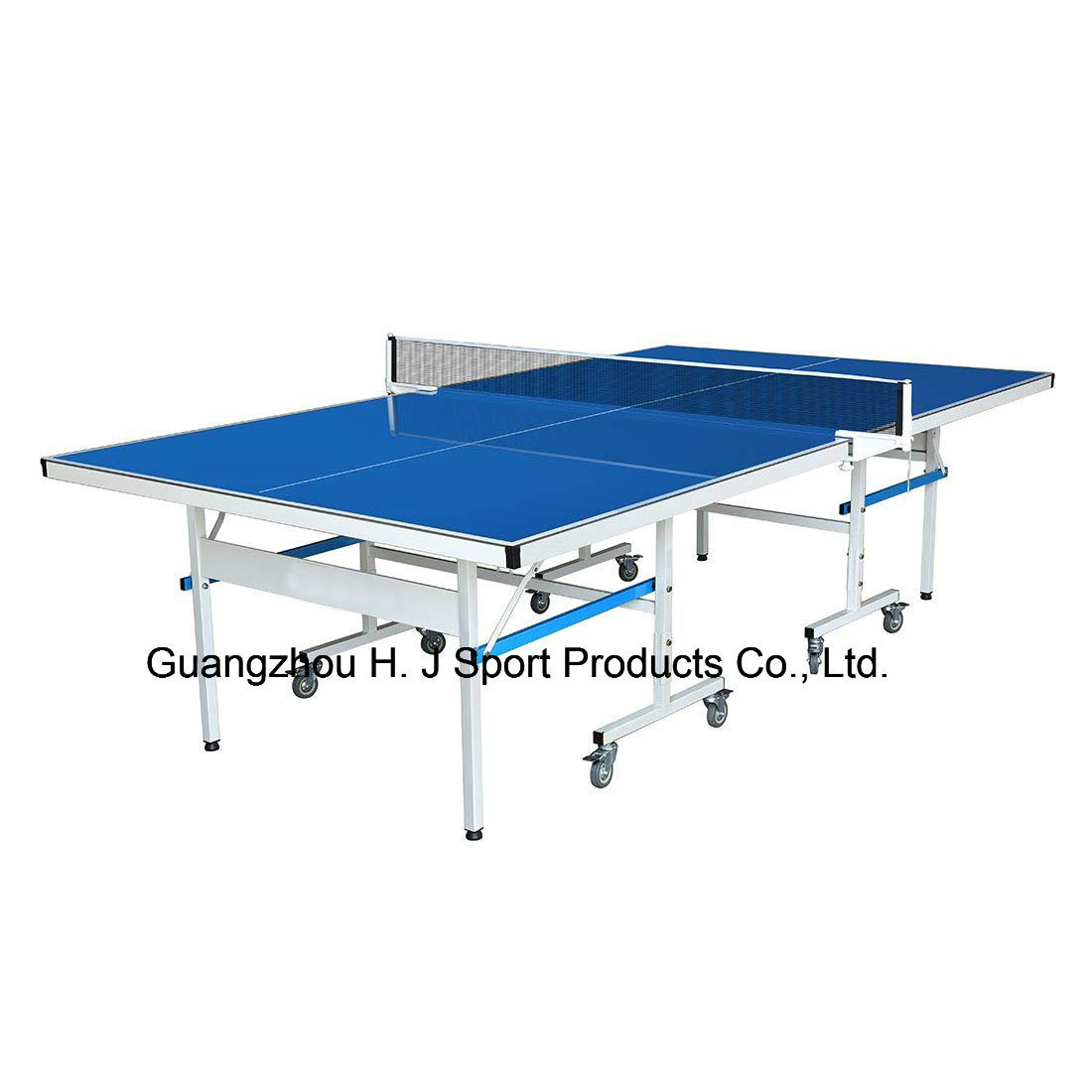 Hot Item Indoor Outdoor Folding Rollaway Table Tennis Table Full Size Ping Pong Table Blue