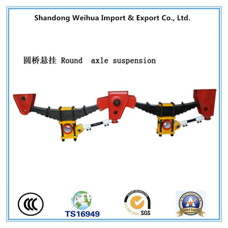 China American Type Semi Truck Trailer Round Axle Suspension China