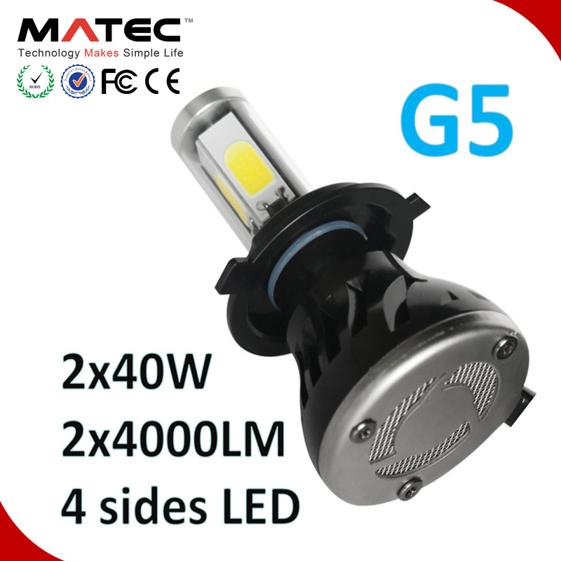 Matec G5 H4 Car LED Headlight Kit 80W 8000lm for Auto pictures & photos