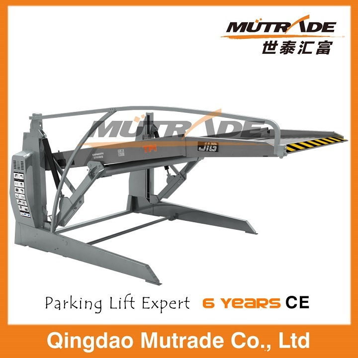 Low Two Post Two Car Mechanical Tilting Parking Lift pictures & photos