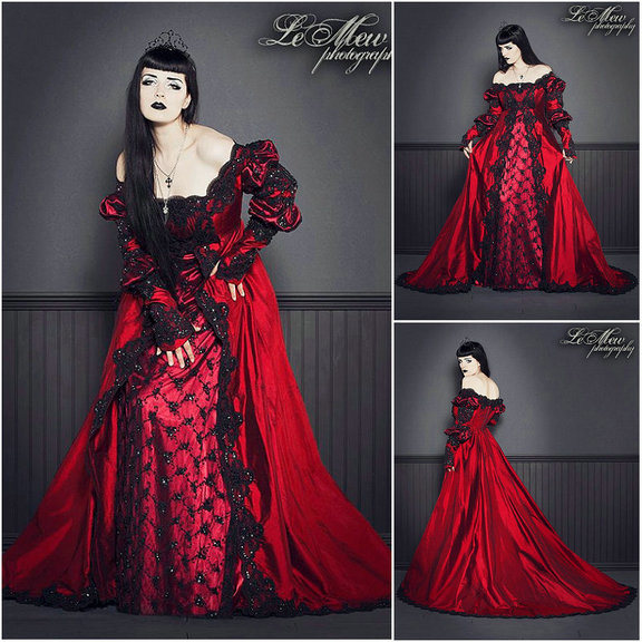 China R-058 19 Century Vintage Costume Maria Antoinette Gown 1860s ...