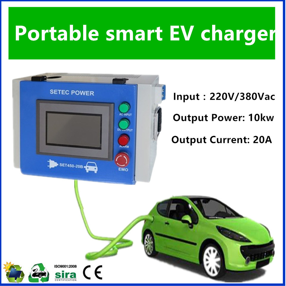 China Green Portable EV Charger For Electric Vehicle