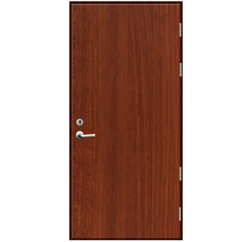 China Melamine Laminated Fire Rated Wood Door Walnut Color China