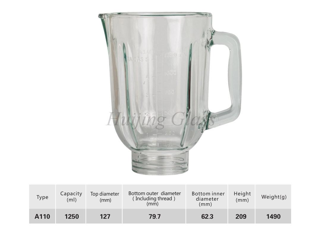 China 1.25L Home Electrical Appliances Food Grade Blender Glass Jar ...