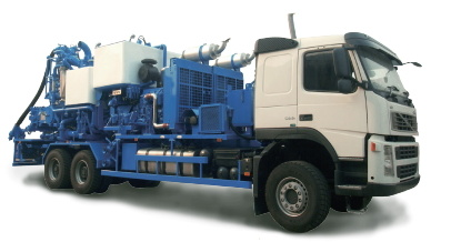 China Double Pump Cementing Truck by Serva - China Cementing
