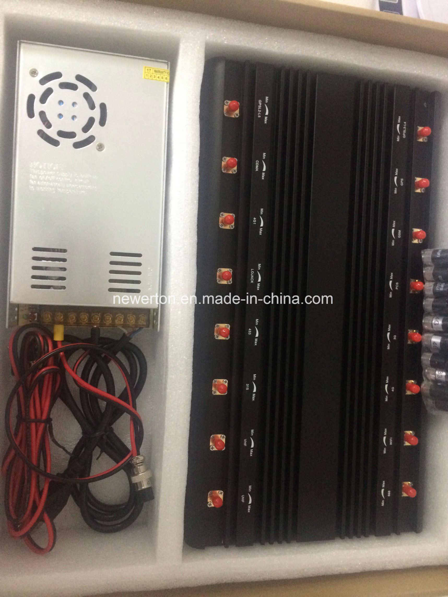 China Adjustable 16 Antennas Powerful GSM 3G 4glte WiFi UHF VHF GPS