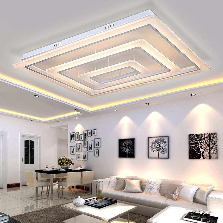 China Rectangular Led Ceiling Light For Living Room Modern Lighting For Indoor Decoration China Ceiling Lights Led Ceiling Lights