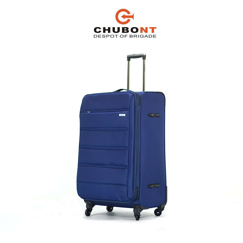 Chubont New Design 4 Wheels Double Zipper Soft Trolleycase pictures & photos