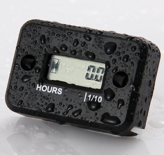 Inductive Digital Hour Meter Waterproof LCD Display for Bike Motorcycle ATV Snowmobile Marine Boat Ski Dirt Gas Engine