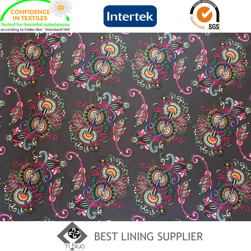 100% Polyester 290t Taffeta Printed Lining Men′s Suit Jacket Lining Fabric