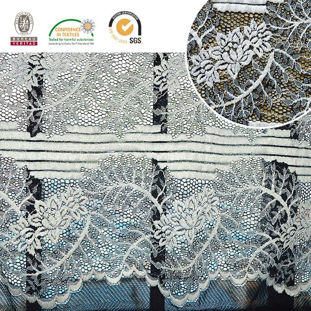 2017 High Quality Embroidery Lace Fabric Polyester Trimming Fancy Melt Polyster Lace for Garments & Home Textiles Ln10046 pictures & photos