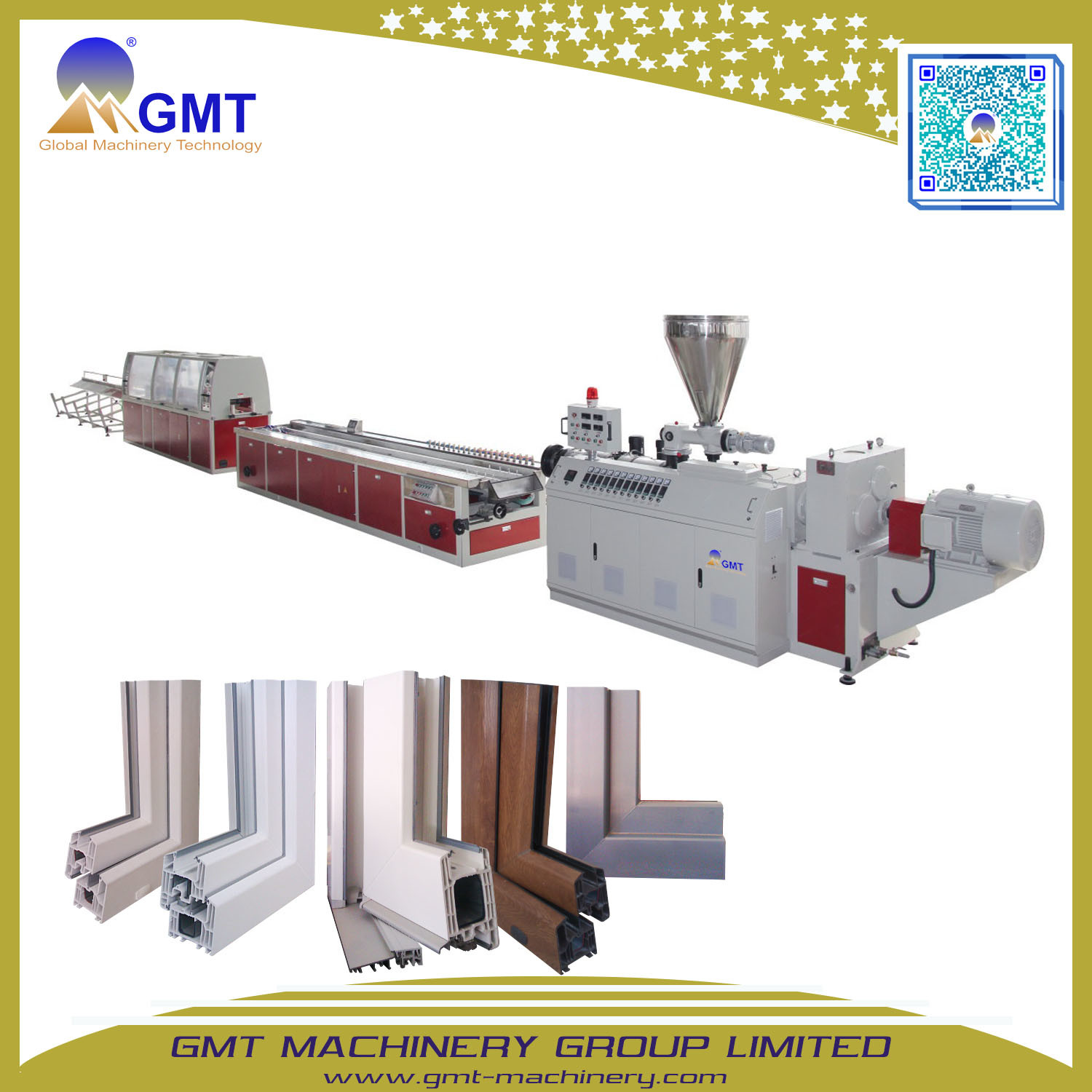 China Plastic PVC Door Frame Profile Conical Twin-Screw Extrusion ...