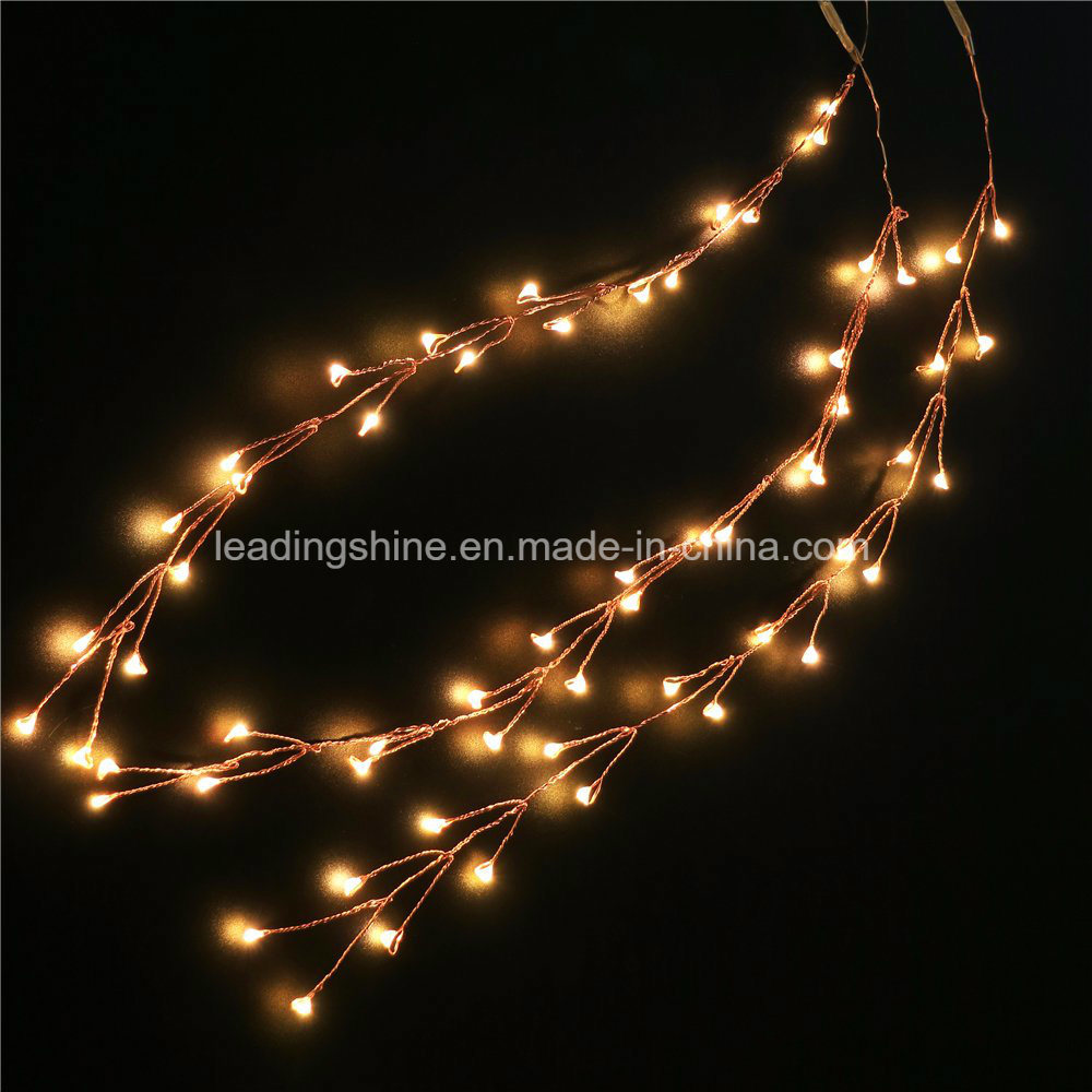 Hot Item 20led Micro Led Battery Operated Firecracker String Lights Silver Copper Wire