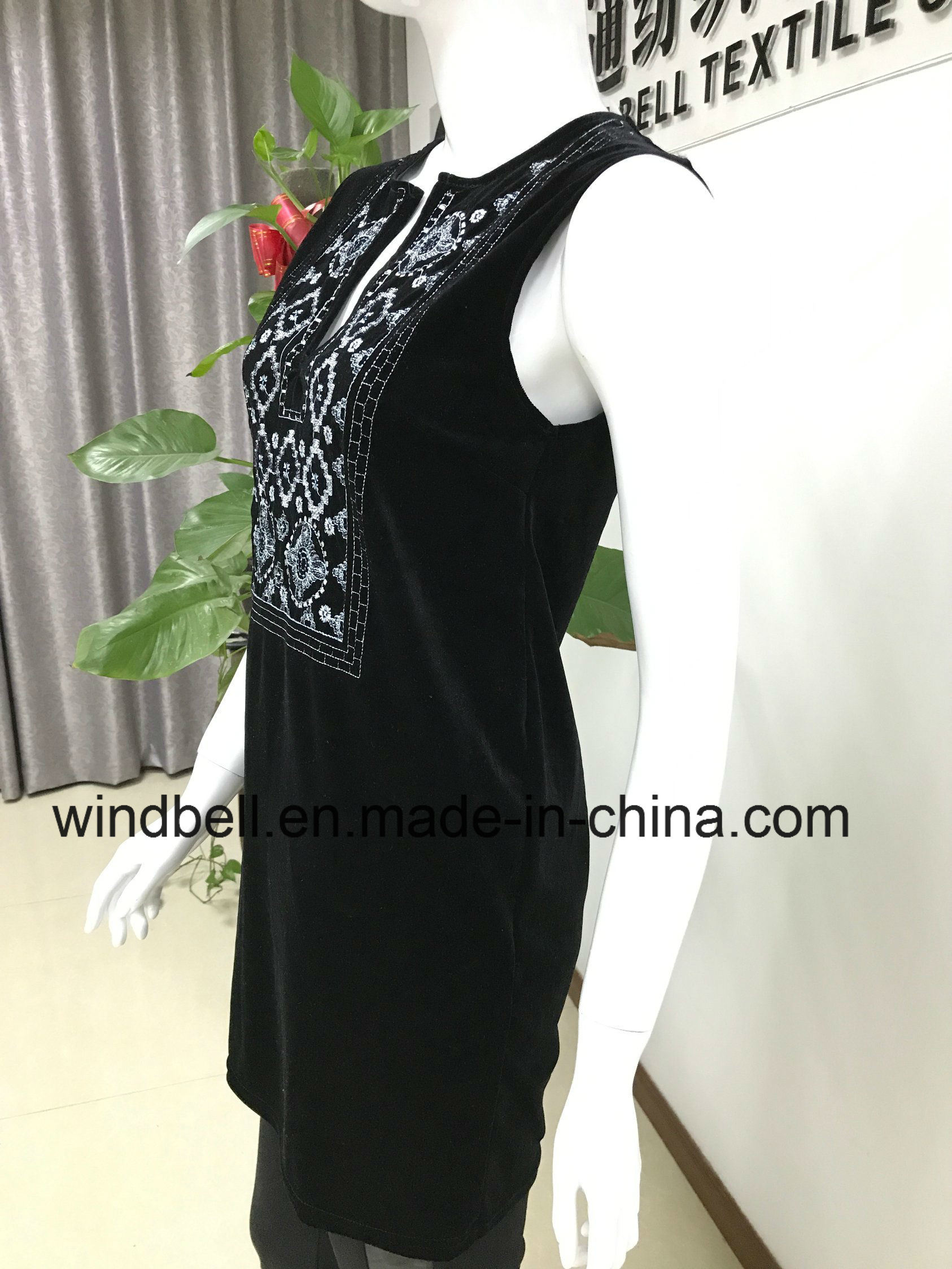 Womens Elegant Dress with Embroidery