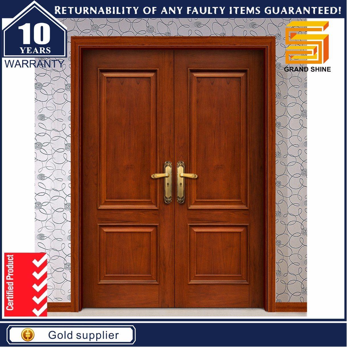 China Teak Wood Interior/Exterior Solid Wooden Main Door ...