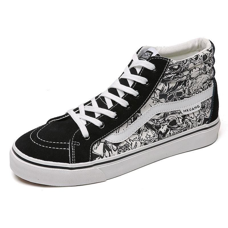 s High-Top Graffiti Canvas Shoes
