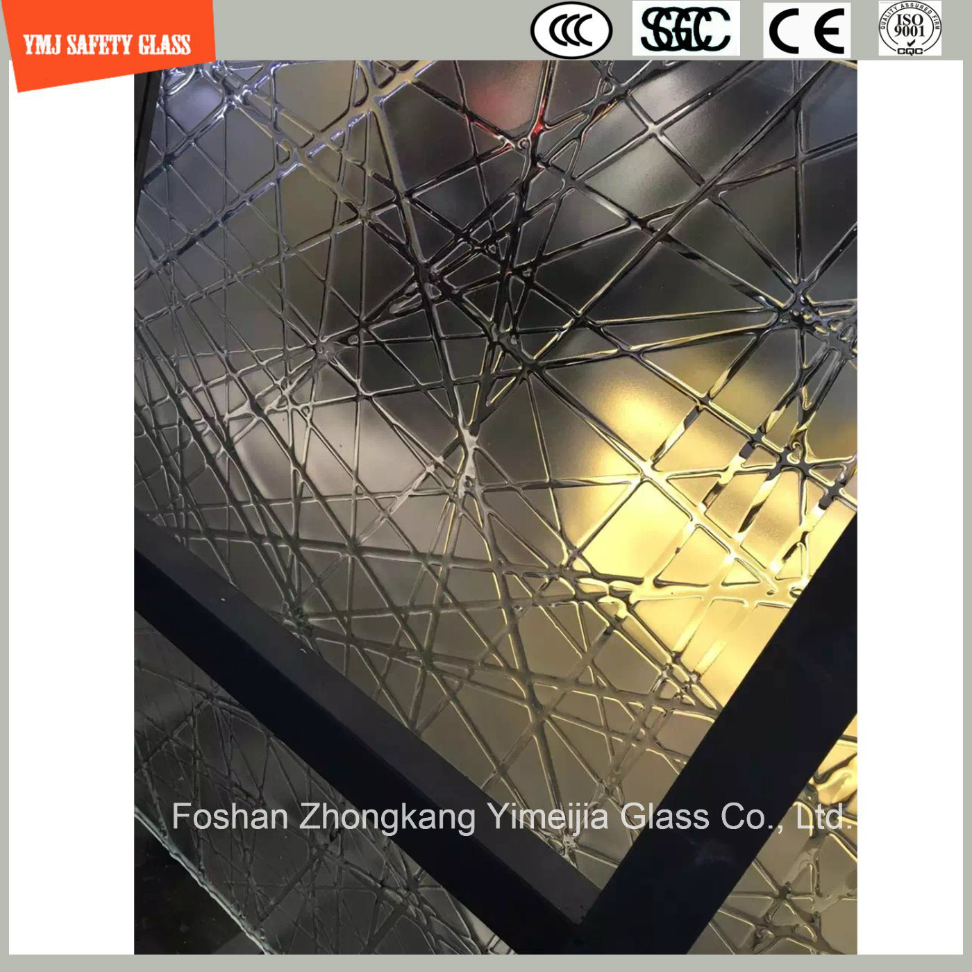 4-19mm Safety Construction Glass, Hot Melting Patterned Glass for Hotel & Home Door/Window/Shower/Partition/Fence with SGCC/Ce&CCC&ISO Certificate