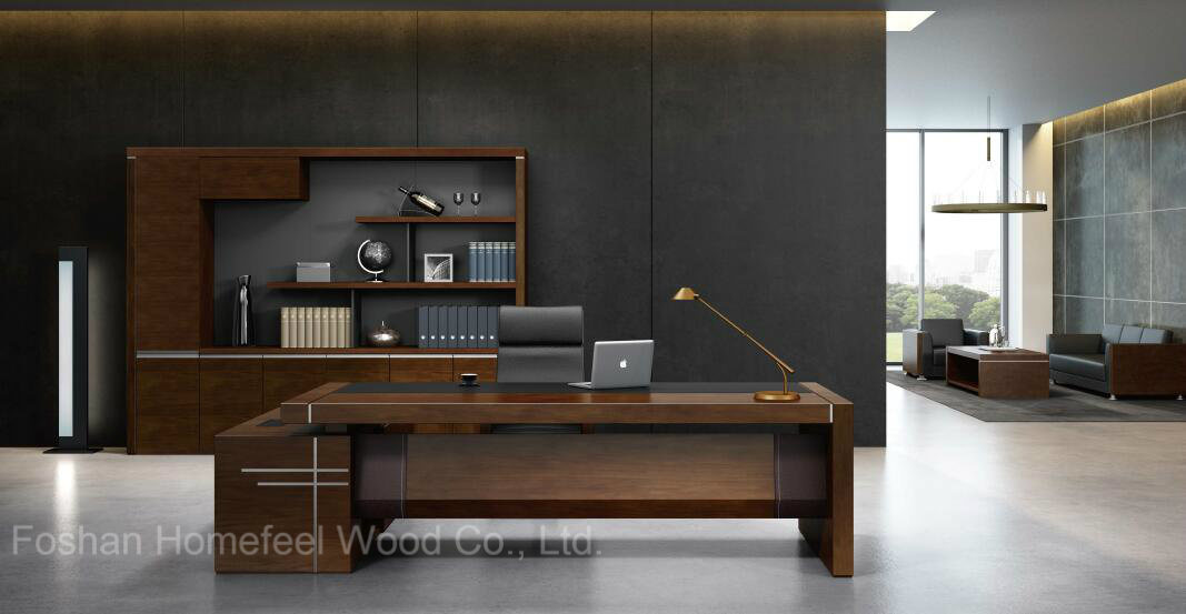 Modern Teak Wood Executive Desk Office Furniture Hf 38d16