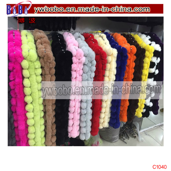 Rabbit Fur Scarf Neckerchief Winter Scarf Yiwu Freight (C1040)