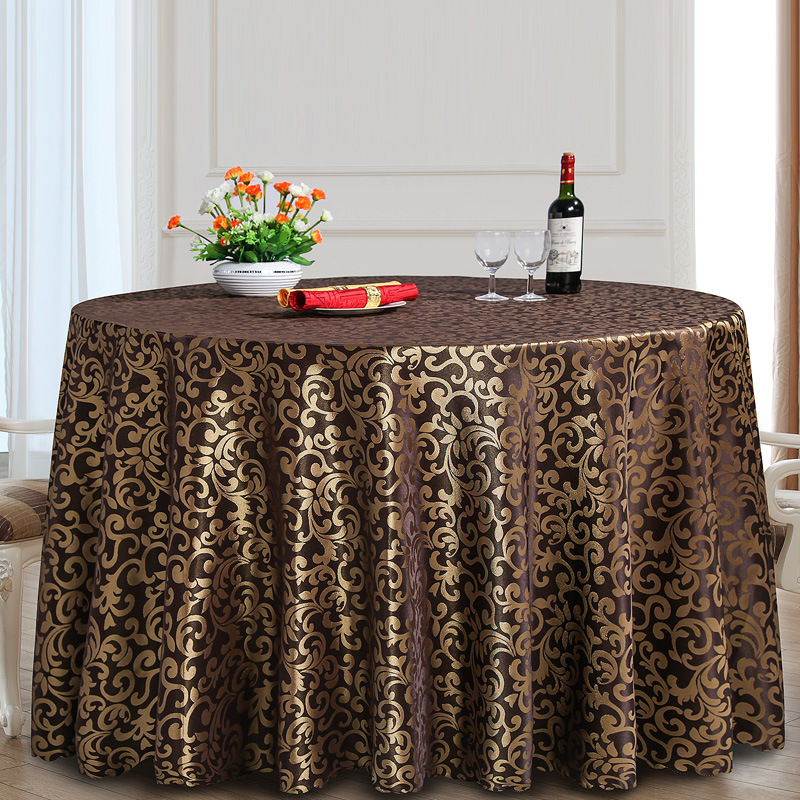 Large Round Table Cloth.Hot Item Cheapest Polyester Wedding Large Round Table Cloth Dpf10788