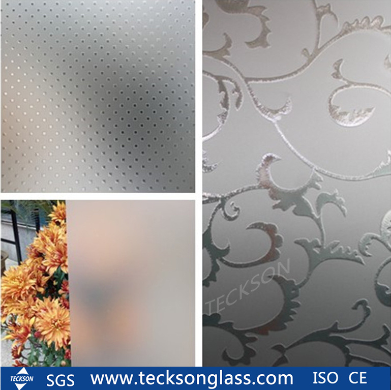 China 3 12mm Acid Etched Home Design Frosted Glass For Building Glass China Acid Etched Glass Edched Glass