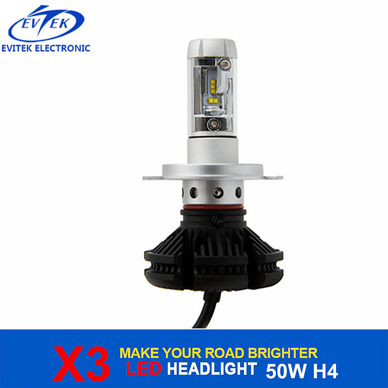 China Automobile Lighting 50W 6000lm X3 LED Headlight Bulb H4 H13