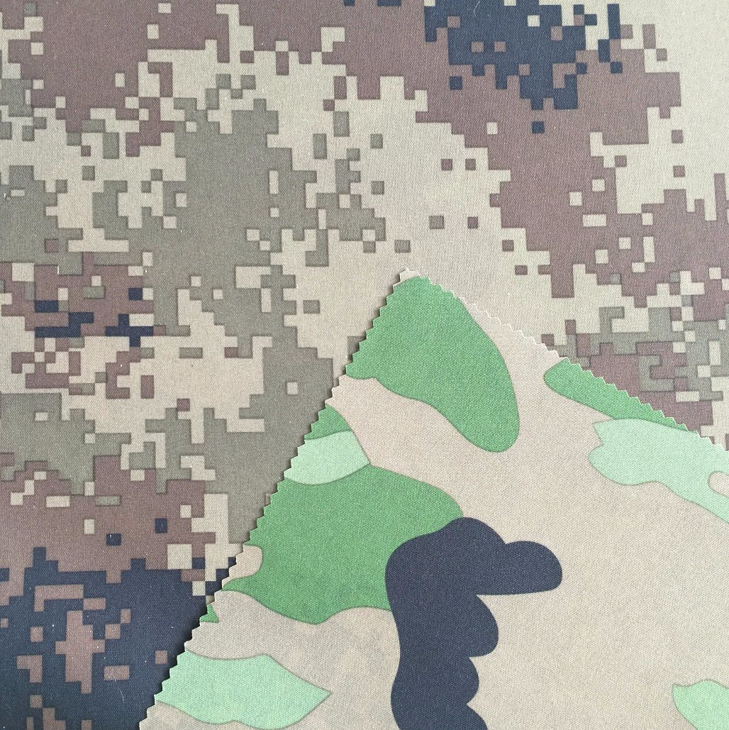 Double Face Camouflage Printed, 300d Oxford Fabric PU Coated, Waterproof