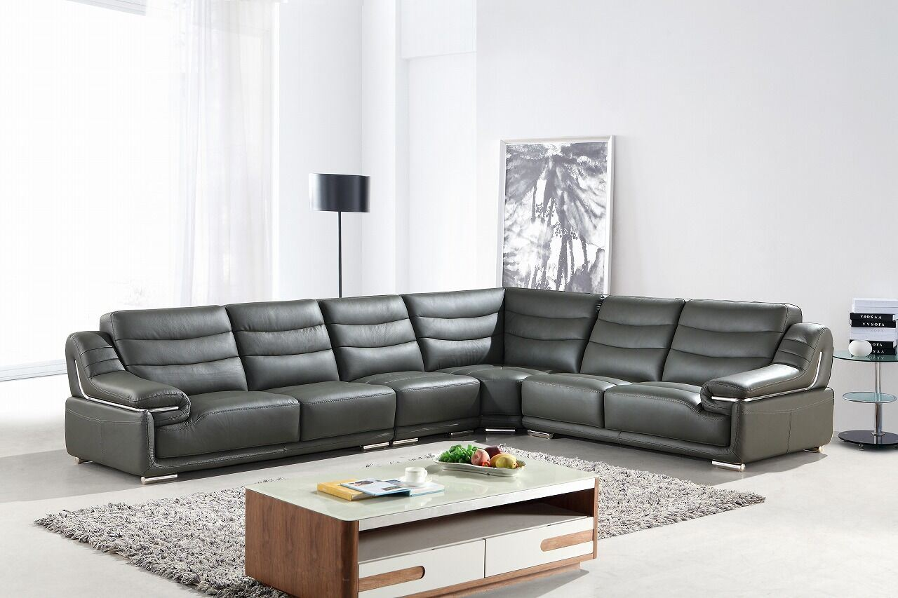 China European Modern L Shape Sectional Leather Sofa Sbl 9138