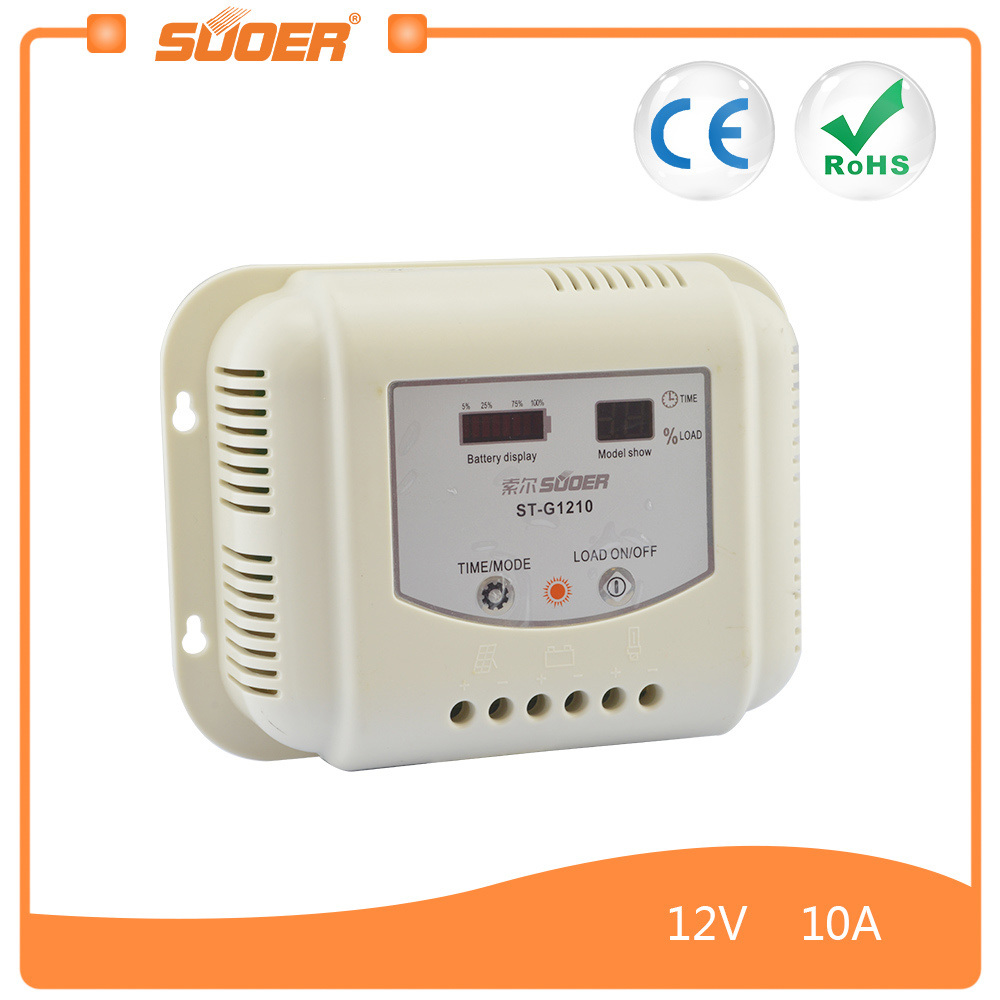 China Suoer 10a 12v 24v Solar Charge Controller With Cerohs St 48v Battery Charger Circuit High Low Cutoff G1210 Power