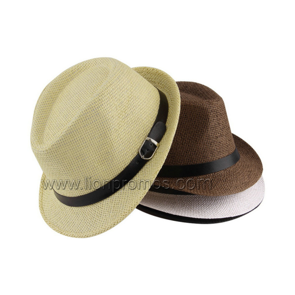 94b174cc074 China Custom Logo Summer Straw Hat Jazz Hat - China Bucket Hat