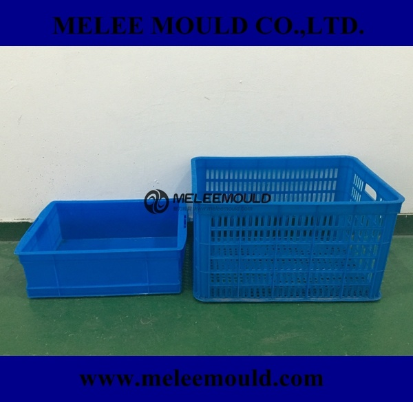 Melee Plastic Food Grade Crate Mould pictures & photos