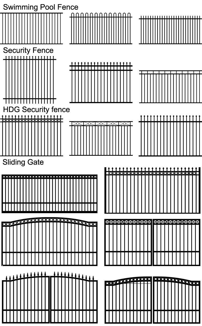China 2018 New Aluminium Home Sliding Gate Designs for Civil - China ...