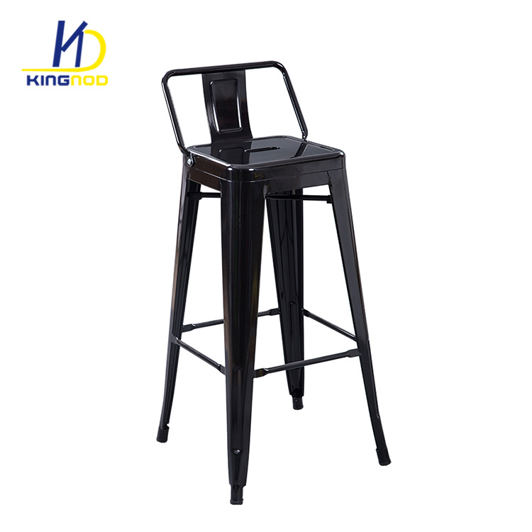 Fine Hot Item Vintage Antique High Bar Chair Iron Metal Bar Stool Tolix With Back Gmtry Best Dining Table And Chair Ideas Images Gmtryco