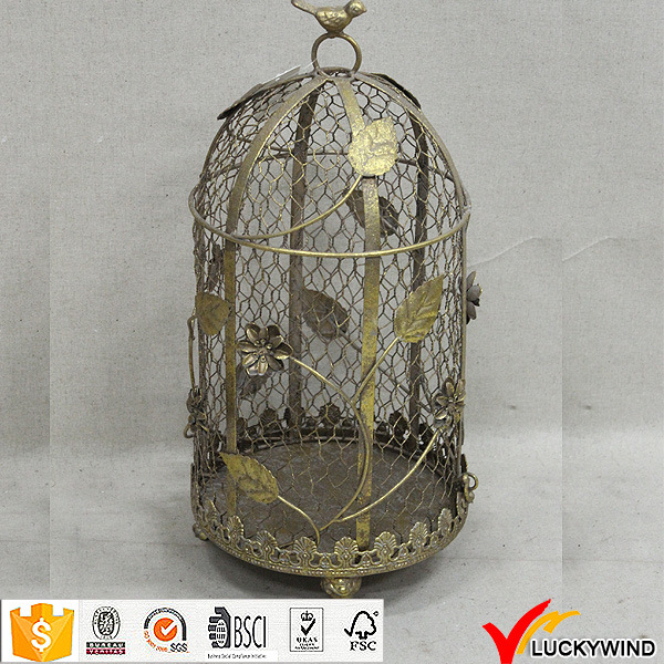 China Vintage Metal Wire Floral Wholesale Decorative Bird Cages