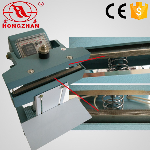 Manual Foot Pedal Sealing Machine Direct Heat Sealer for Bags and Films with Printer and Heating Blcoks pictures & photos