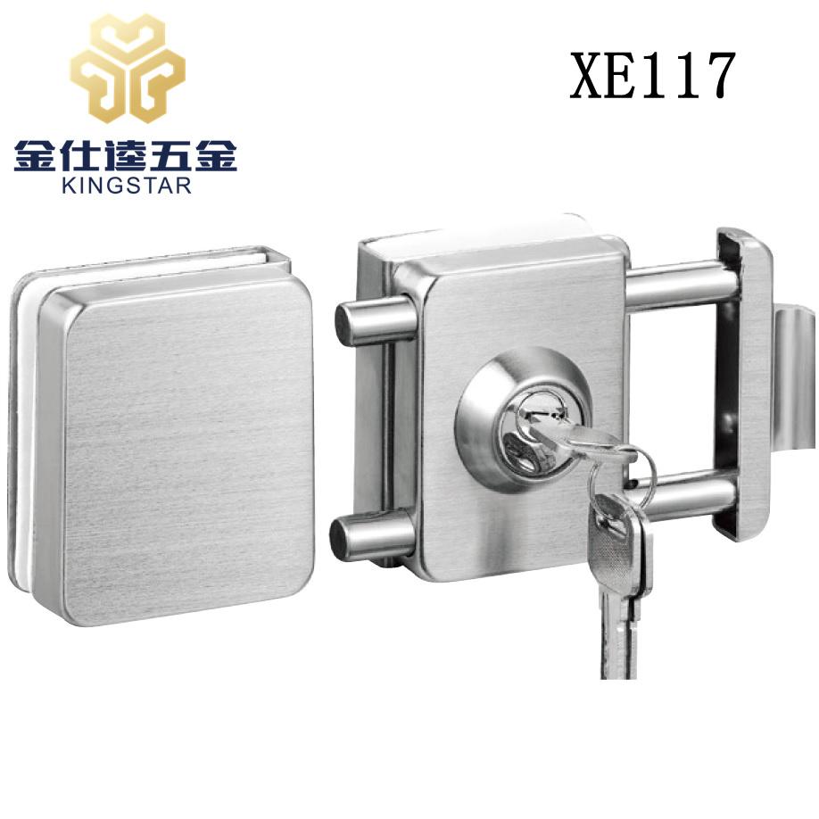 China Glass Door Lock Double Open Glass Door Lock Patch Fitting