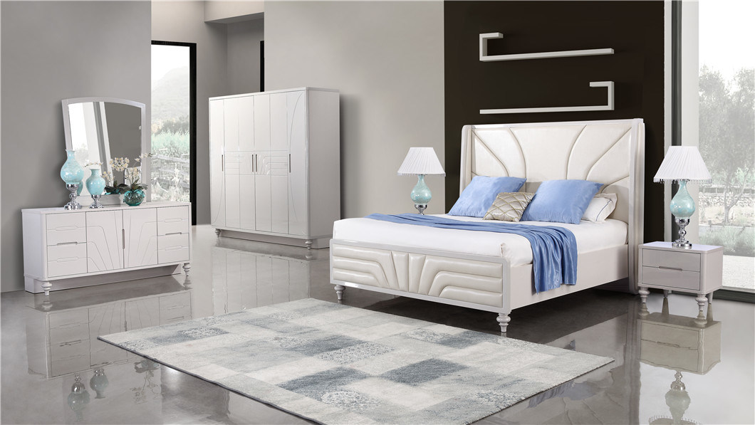 [Hot Item] Home Furniture Luxury Modern Bedroom Furniture King Size Bedroom  Sets
