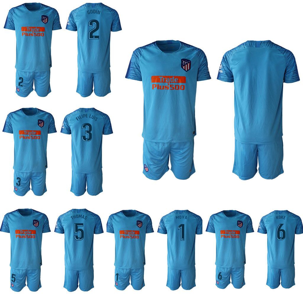 the best attitude 31e6d 5acaf [Hot Item] Atletico Griezmann Madrid Koke Saul Soccer Jersey Kits Football  Shirt