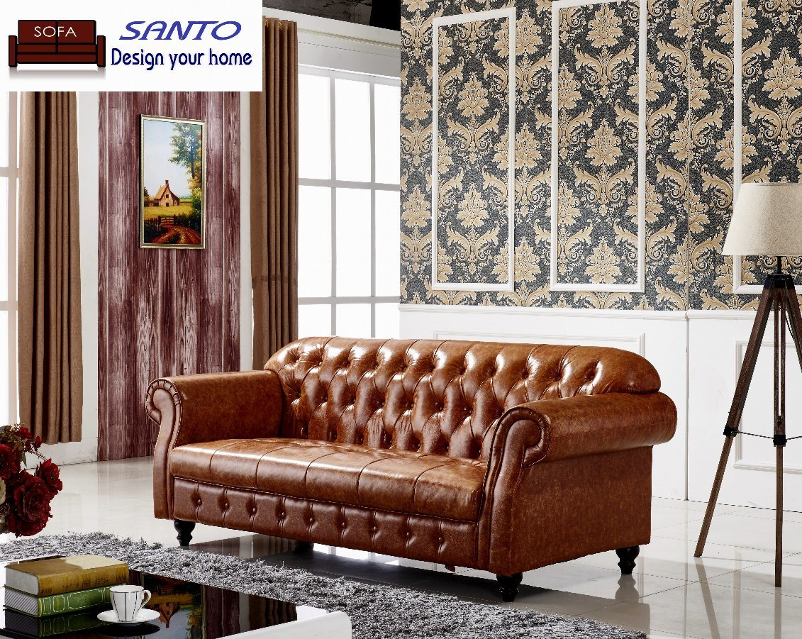 Graceful Chesterfield Tufted Leather