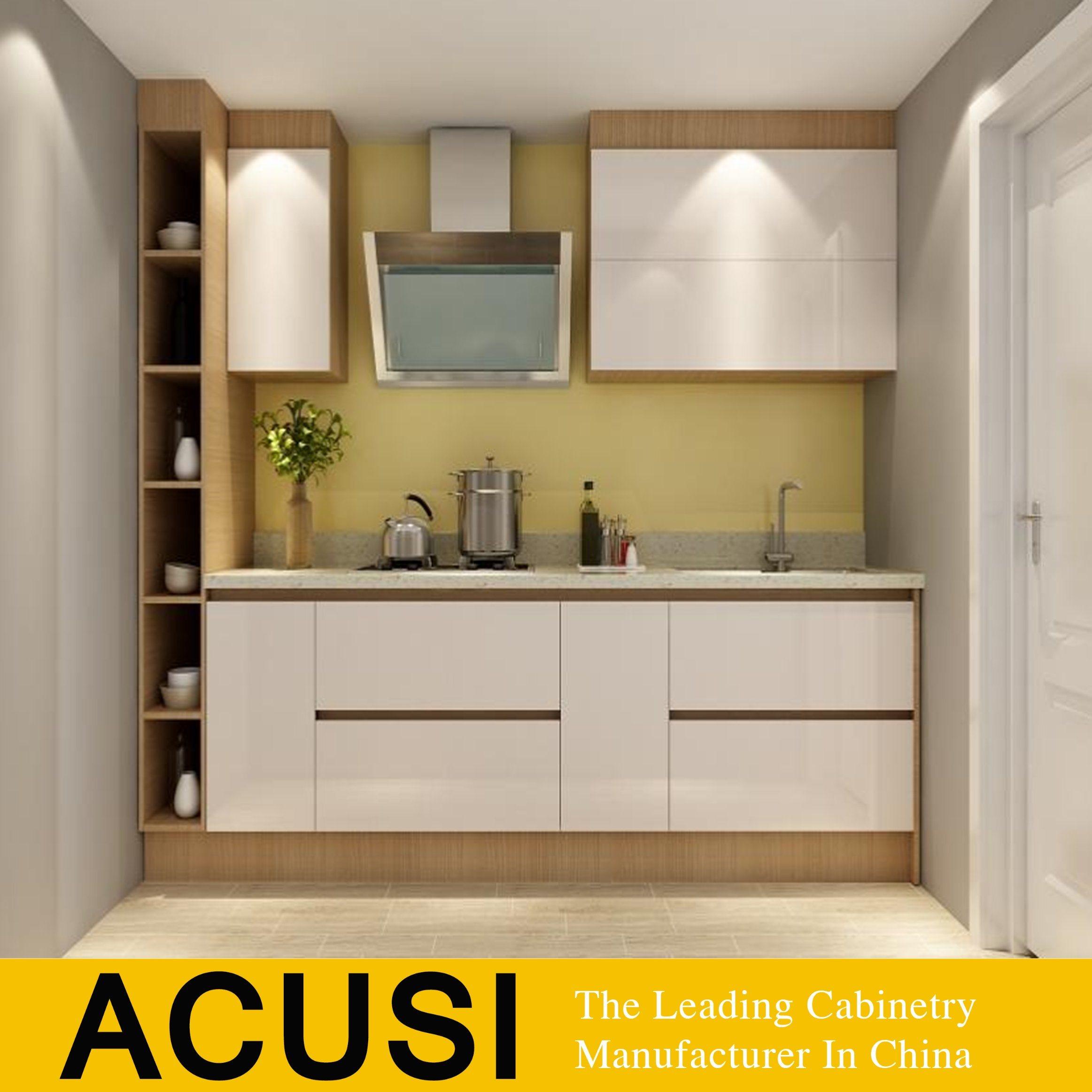 Hot Item Foshan Manufacturer 2 Pac Matte Lacquer Wholesale Modular Kitchen Cabinets Acs2 L164