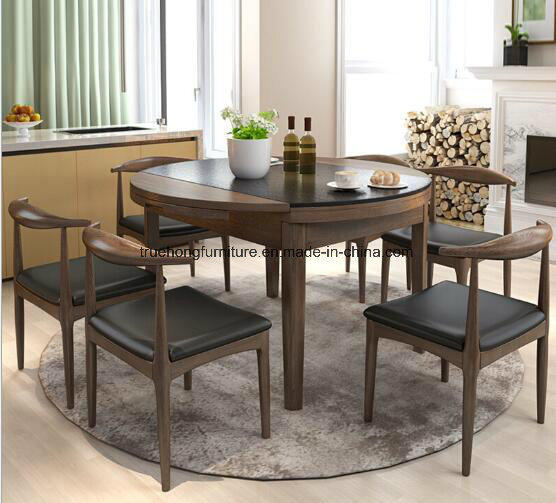 Chinese Luxury Round Dinner Table Set, Round Dinner Table Set