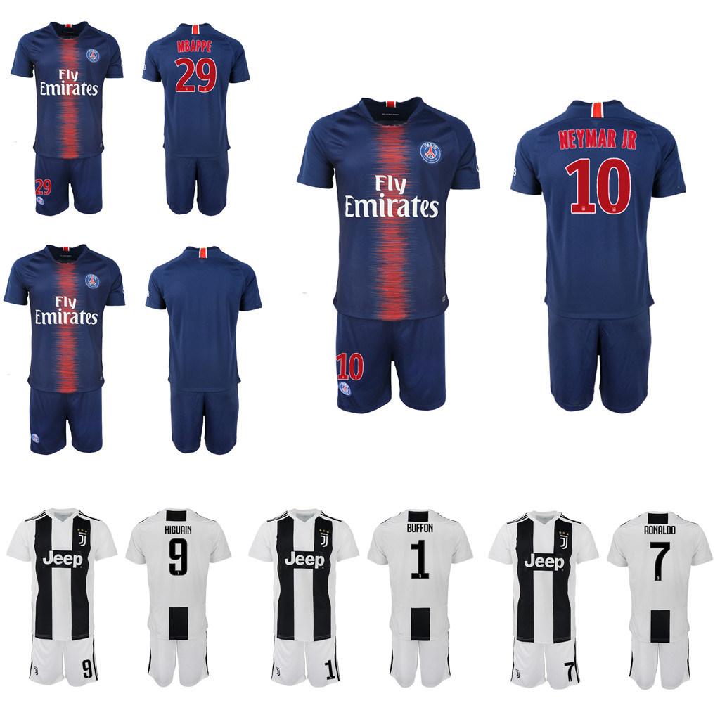 the best attitude 2ca4f 4b237 [Hot Item] Cheap Paris St Germain Mbappe Juventus Soccer Jersey Football  Uniforms