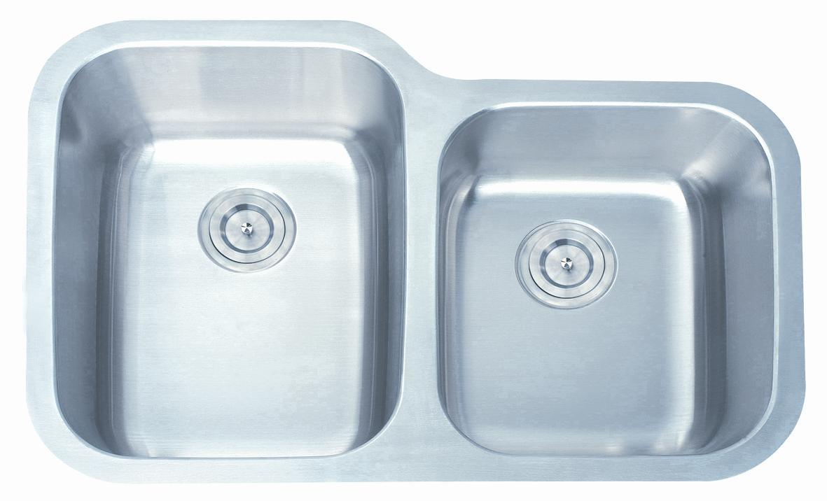 China Deep Drawn Double Bowl Undermount Stainless Steel Kitchen Sink ...