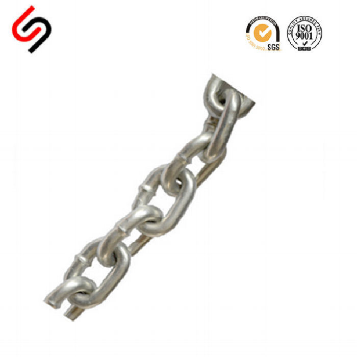G63 Stainless Steel 304/316 Link Chain with a High Tensile Strength