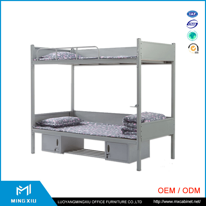 China Mingxiu School Equipment Metal Double Bunk Bed / Steel Bunk Bed pictures & photos