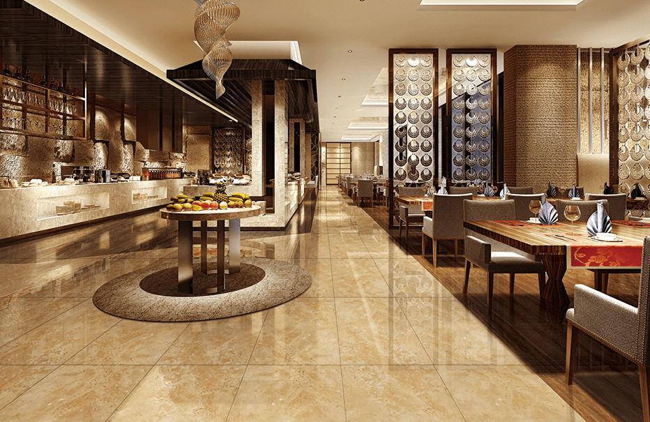 China Sandstone Effect Thin Tile Porcelain Tile For Interior Wall
